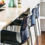 Bar stools at the kitchen island